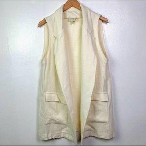 Koch Sleeveless Blazer Wool Blend Long Vest